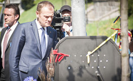 Donald Tusk in Kiev Royalty Free Stock Photography