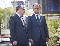 Donald Tusk in Kiev Stock Photo