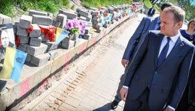 Donald Tusk in Kiev Royalty Free Stock Images