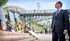 Donald Tusk in Kiev Stock Photos