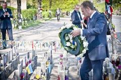 Donald Tusk in Kiev Stock Photography