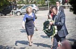 Donald Tusk in Kiev Royalty Free Stock Photo