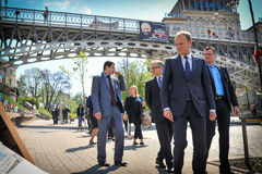 Donald Tusk in Kiev Royalty Free Stock Photo