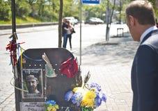 Donald Tusk in Kiev Stock Images