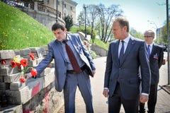 Donald Tusk in Kiev Royalty Free Stock Photos