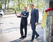 Donald Tusk in Kiev Stock Image