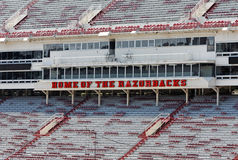 Donald W. Reynolds Razorback Stadium Royalty Free Stock Image