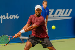 Donald Young plays at the Winston-Salem Open Royalty Free Stock Images