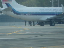 Donalds Trump Jet Airplane At LaGuardia flygplats 13 Royaltyfri Foto