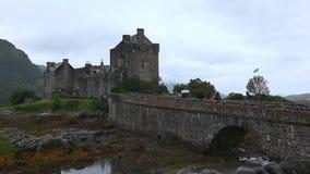 donan的城堡eileen苏格兰 股票视频