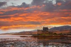 Κάστρο Donan Eilean, Σκωτία Στοκ Φωτογραφία
