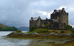 donan eilean högland scotland för slott Arkivfoto