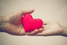 Donante de amor Imágenes de archivo libres de regalías