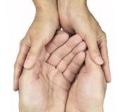 Donante de cuidado Fotografía de archivo