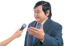 Donante de entrevista Imagen de archivo libre de regalías