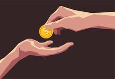 Donante de la mano ilustración del vector