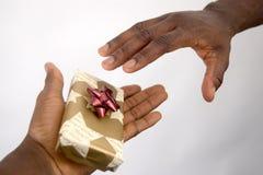 Donante de la Navidad Imagenes de archivo