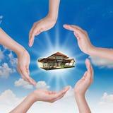 Donante de la nueva casa Fotografía de archivo libre de regalías