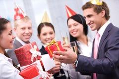 Donante de presentes Fotografía de archivo libre de regalías