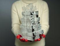 Donante de presentes Imágenes de archivo libres de regalías