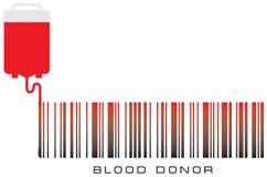 Donante de sangre del código de barras Fotos de archivo