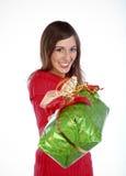 Donante de un presente Foto de archivo libre de regalías