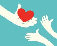 Donante del corazón Foto de archivo libre de regalías