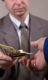 Donante del dinero Imágenes de archivo libres de regalías