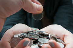 Donante del dinero foto de archivo libre de regalías
