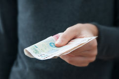 Donante del dinero foto de archivo