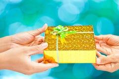Donante del regalo Foto de archivo libre de regalías