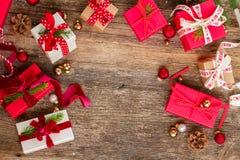 Donante del regalo de la Navidad Fotos de archivo libres de regalías
