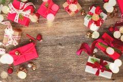 Donante del regalo de la Navidad Imágenes de archivo libres de regalías