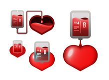 Donar, blood icons Royalty Free Stock Photography