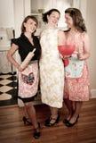 Donas de casa do vintage no pronto Foto de Stock