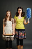 Donas de casa sérias Imagem de Stock Royalty Free