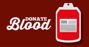 Donate blood bag plastic supply. Vector illustration Stock Image