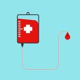Donate blood bag Royalty Free Stock Photo