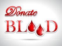 Donate blood,blood donation Medical concept red drops Stock Photo