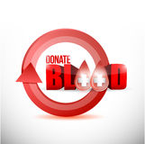 donate blood concept illustration Royalty Free Stock Photos