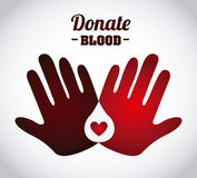 Donate blood design Stock Image
