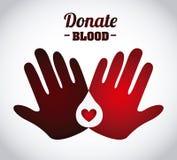 Donate blood design Stock Image