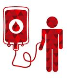 Donate blood. Design,  illustration eps10 graphic Stock Image