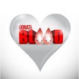 Donate blood hard illustration design Royalty Free Stock Photos