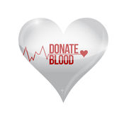 donate blood heart concept illustration Royalty Free Stock Photo