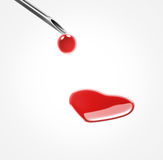 Donate blood heart shape Royalty Free Stock Photography