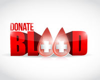 Donate blood illustration design Royalty Free Stock Images