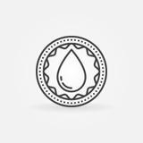 Donate blood linear badge vector illustration