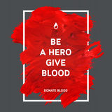 Donate blood motivation information poster. Stock Photography