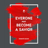 Donate blood motivation information poster. Royalty Free Stock Image